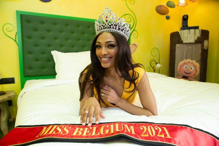 De nieuwe Miss België, Kedist Deltour uit Harlebeke is van Ethiopische afkomst. Beeld BELGA