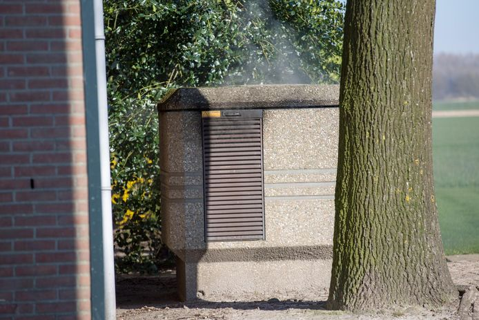 Brand in een schakelkast in Hoeven.