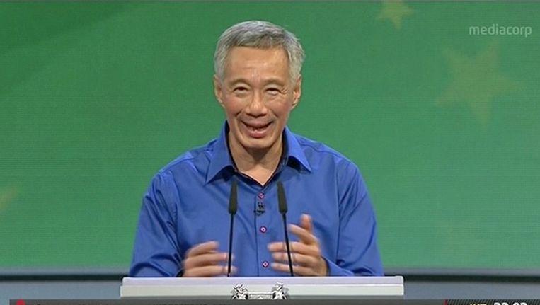 Lee gaf zijn speech naar aanleiding van het 51-jarige bestaan van Singapore op 9 augustus. Beeld AP