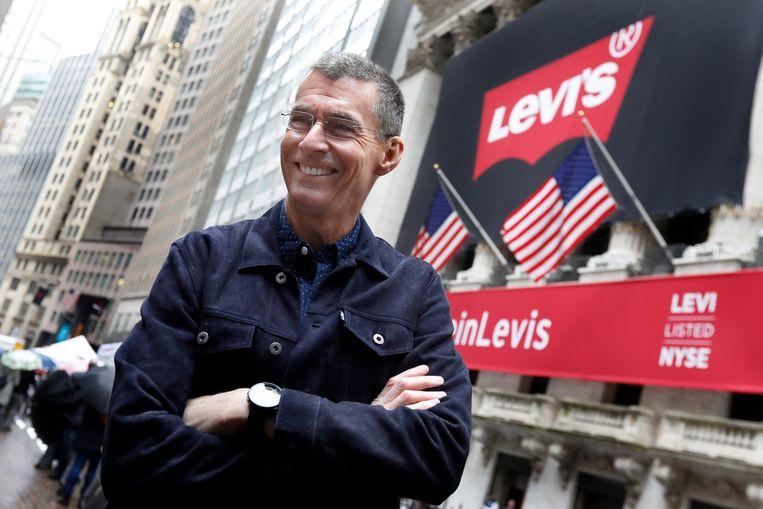 Chip Bergh, de CEO van Levi's, beweert dat hij zijn jeansbroek nooit wast. Beeld AP