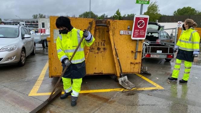 Geen mondmaskerplicht  meer op recyclageparken, wel uur vroeger dicht door hitte