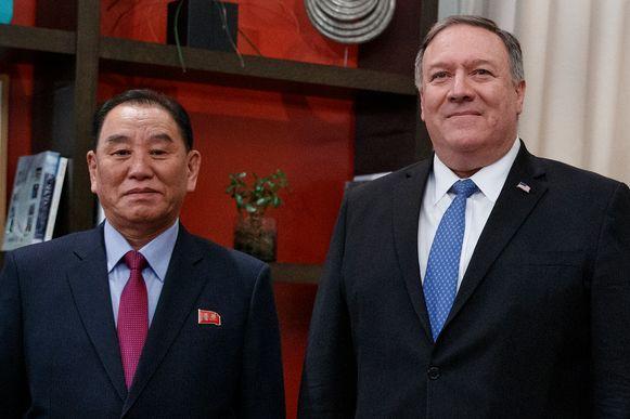 Eerder op de dag had Kims rechterhand ook al een ontmoeting met Trumps minister van Buitenlandse Zaken Mike Pompeo.