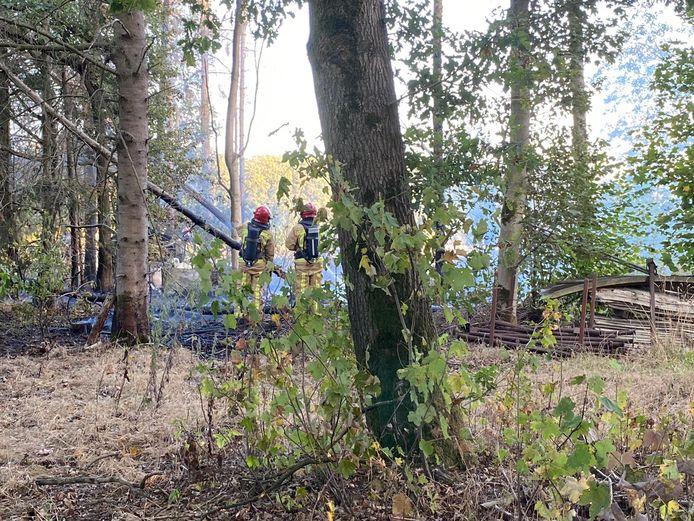 Natuurbrand bij Riethoven.
