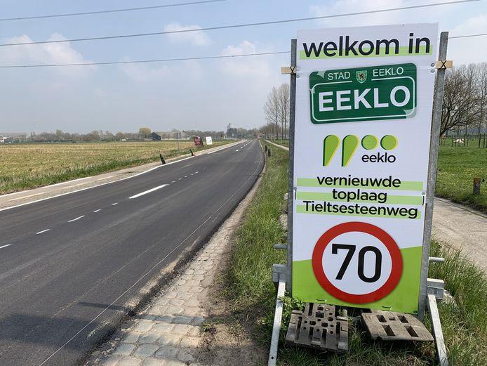 De Tieltsesteenweg in Eeklo is weer open.