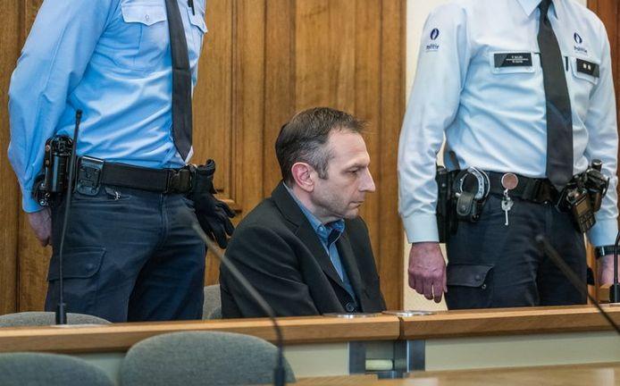 Johan Devriendt lors de son procès en assises à Louvain.