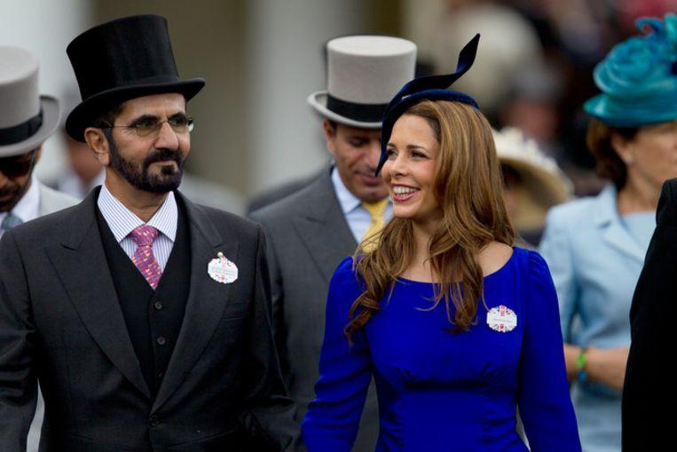 Haya en echtgenoot Mohammed bin Rashid Al Maktoumin in 2012. Beeld AP