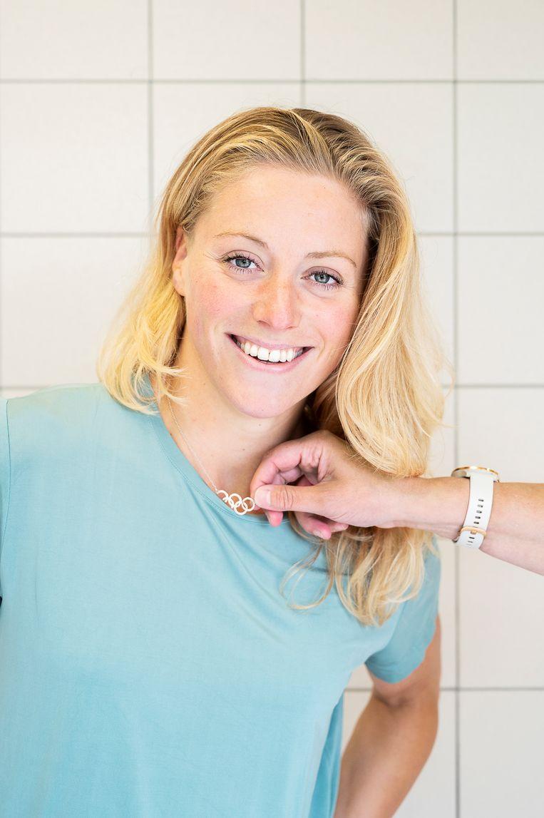 Kira Toussaint: 'Ik was al lang met zwemmen gestopt als ik had moeten trainen zoals in die tijd. Veel te saai.' Beeld Sanne De Wilde