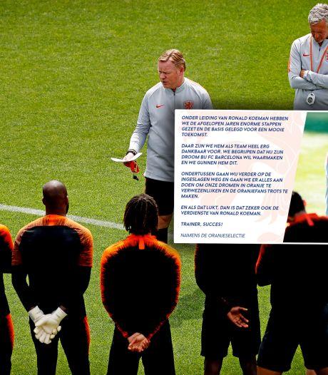 Oranje-selectie zwaait Koeman uit: 'We zijn hem heel erg dankbaar'