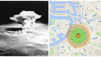 Wat als de Hiroshima-bom boven jouw stad wordt gedropt?