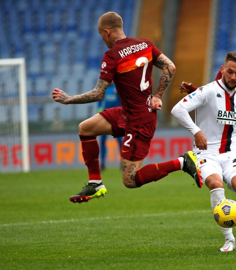 Karsdorp wint met Roma van Strootman, AC Milan houdt druk op koploper Inter