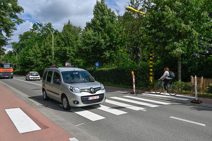 Er is een zebrapad aangelegd op het kruispunt waar fietsertje Loes in februari om het leven kwam