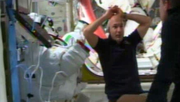 De Italiaanse astronaut Luca Parmitano. Beeld AFP
