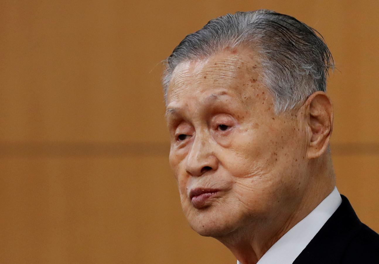 Yoshiro Mori, voorzitter van het organisatiecomité van de Spelen in Tokio.