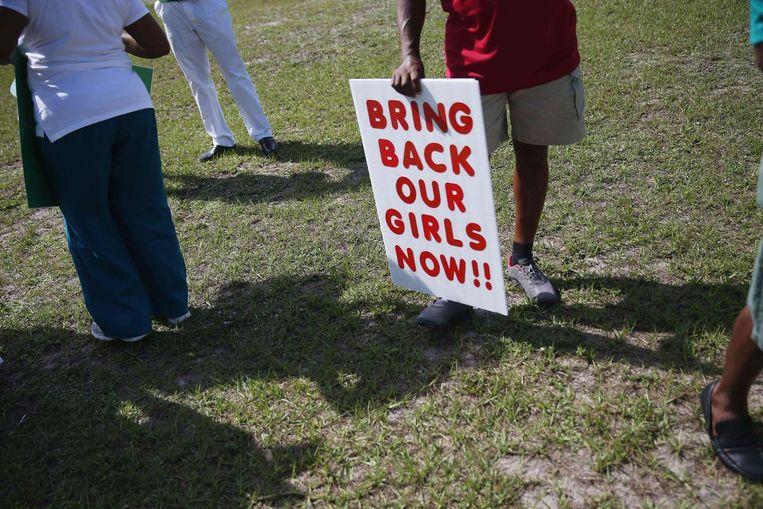 Een demonstratie in Florida, eerder deze week. Beeld afp