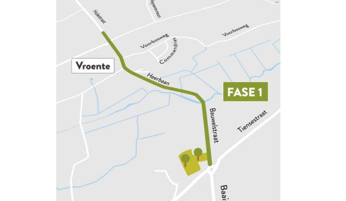 De 1ste fase start op de Bauwelstraat/Heerbaan.