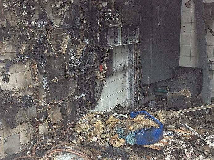 Schade na de brand in de Gagelstraat