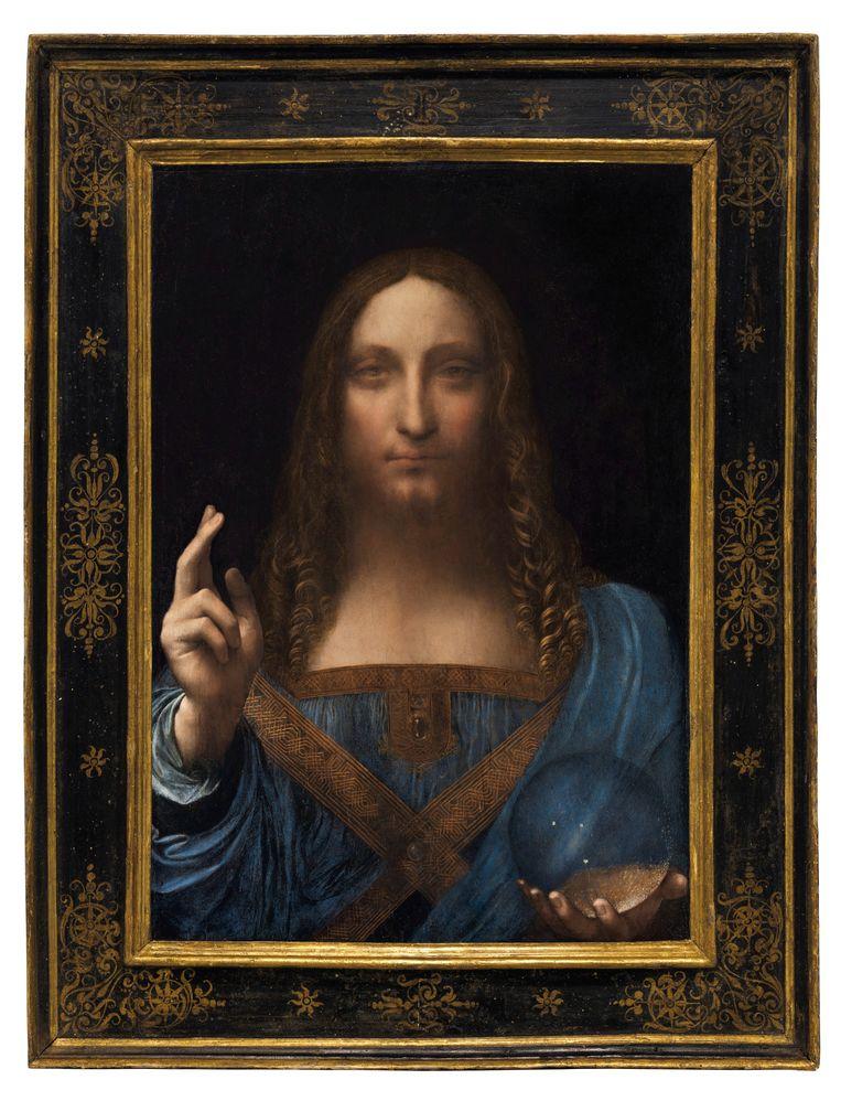 Salvator Mundi van Leonardo Da Vinci Beeld REUTERS