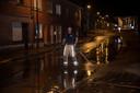 In de Edgard Tinelstraat was er opnieuw overlast door modderstromen.