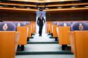 Mark Rutte (VVD) in de Tweede Kamer tijdens een debat over de mislukte formatieverkenning.