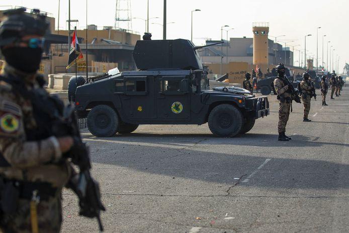 De Amerikaanse ambassade in Bagdad werd deze week bestormd door woedende burgers en militieleden.