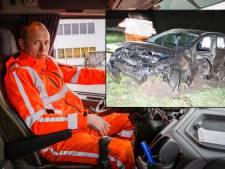 Terence (39) ontdekte gewonde man in autowrak langs stikdonkere A35: 'Hij lag in de kofferbak'