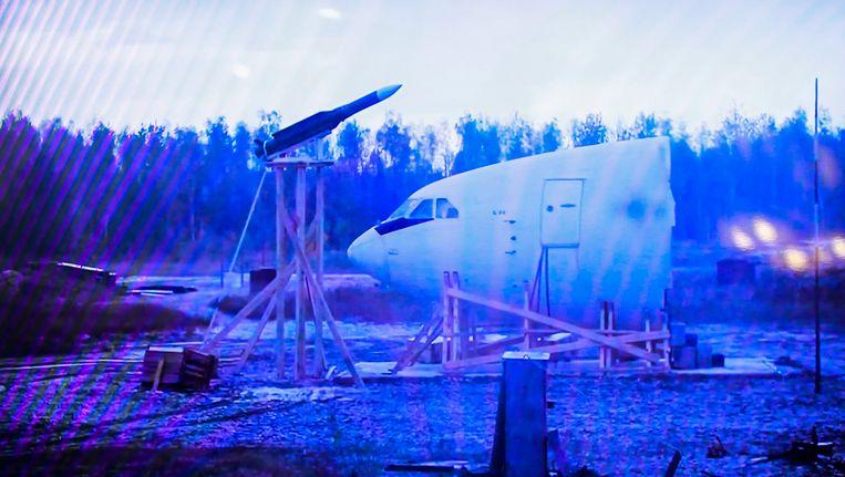Presentatie van Russisch onderzoek naar de MH17-ramp. Beeld epa