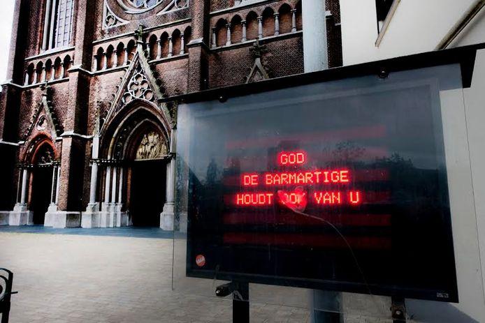 De boodschap op het einde. Foto Jan van Eijndhoven/PVE