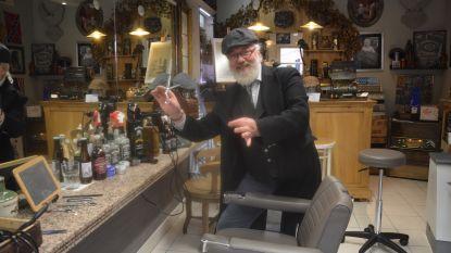 De familie Steenhaut, barbiers sinds 1890. Maar Derry is helaas wellicht de laatste