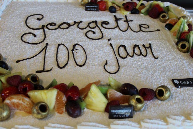 Georgette Declerck werd op 23 december 100 jaar.
