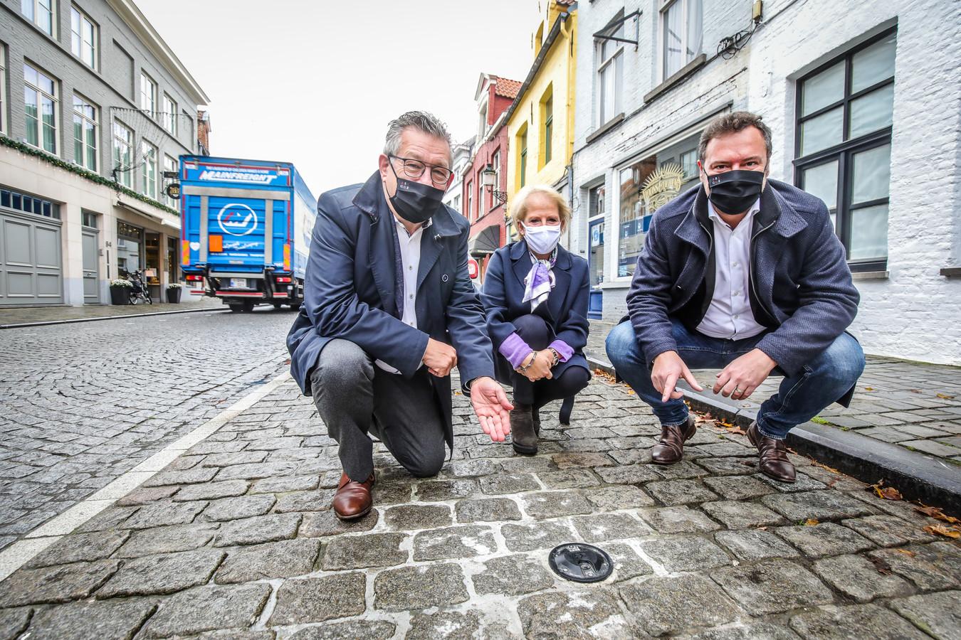Brugge voorstelling sensoren kort parkeren