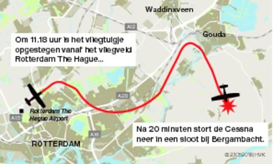Twee doden na neerstorten vliegtuigje Stolwijk Bij een vliegtuigongeluk in een weiland aan de Zuidbroek in Stolwijk zijn vanochtend twee doden gevallen.