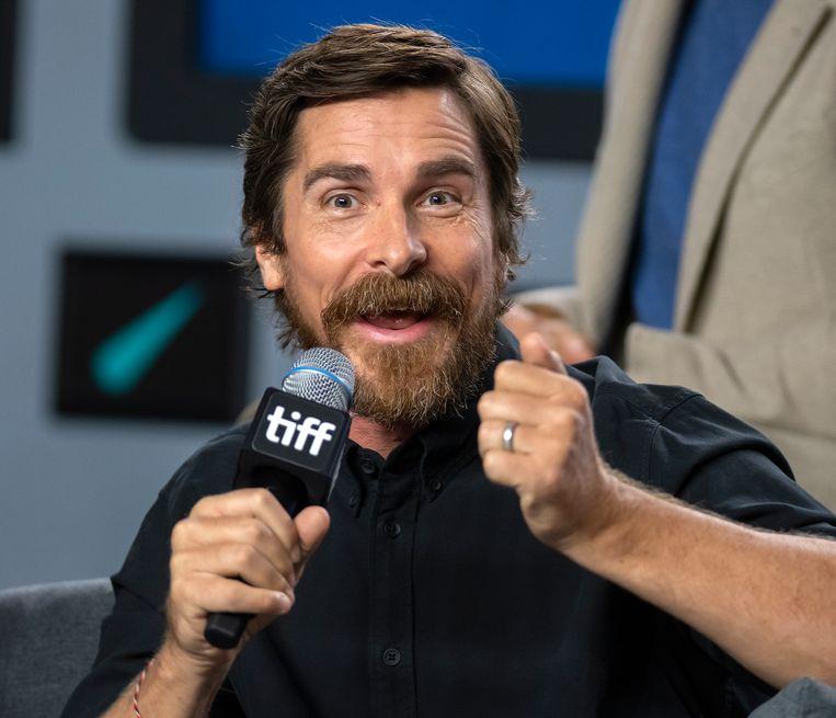 Christian Bale op het filmfestival van Toronto.