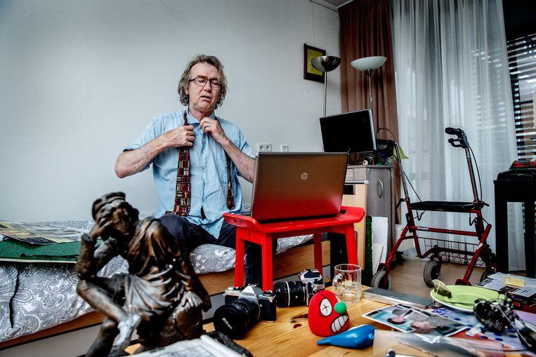 Korsakov-patiënt Jan Ruijgrok (64) woont op een gesloten afdeling Beeld Jean-Pierre Jans