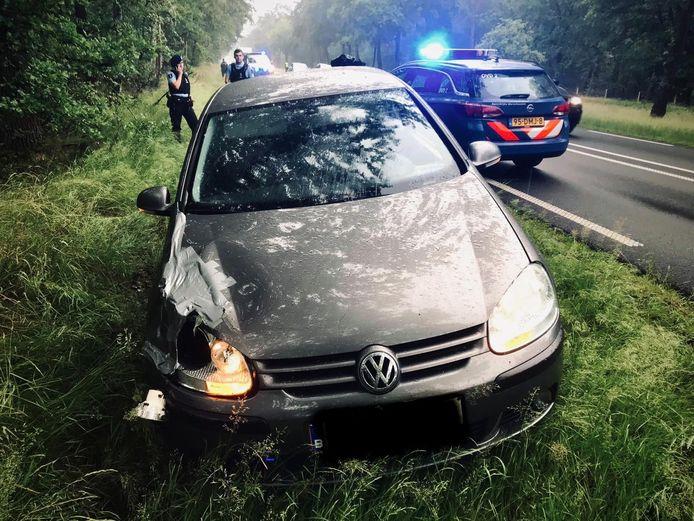 Een Belgische automobilist is dinsdag na een achtervolging op de N69 bij Valkenswaard klemgereden door de Koninklijke Marechaussee.