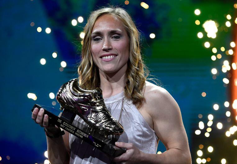 Janice Cayman wint de 2e Gouden Schoen voor vrouwen.