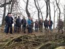 Natuurwerkgroep de Eerdse Bergen in Eerde kreeg in 2017 bezoek van het college van B en W en raadsleden van Meierijstad.