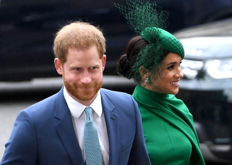De Britse prins Harry en zijn vrouw Meghan. Beeld Hollandse Hoogte / EPA
