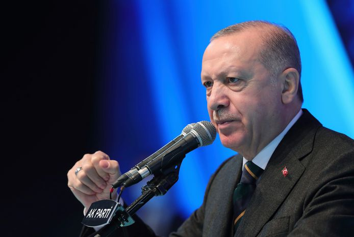 De Turks Presidente Recep Tayyip Erdogan.