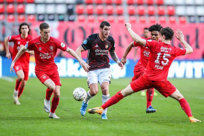 FC Twente pakte in elk geval nog een punt tegen Feyenoord