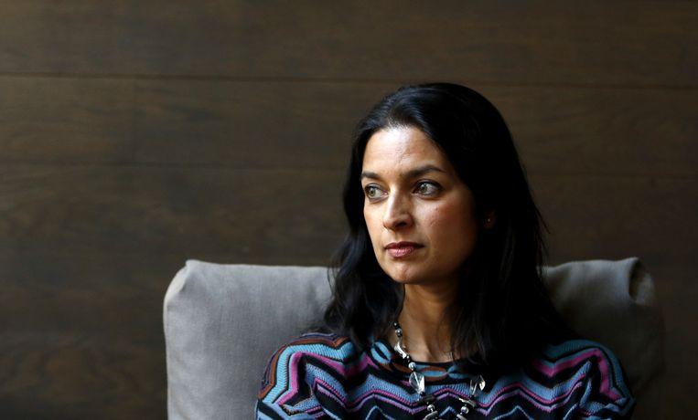 De in Engeland geboren Jhumpa Lahiri, dochter van Bengaalse immigranten, schrijft tegenwoordig in het Italiaans. Beeld BELGAIMAGE