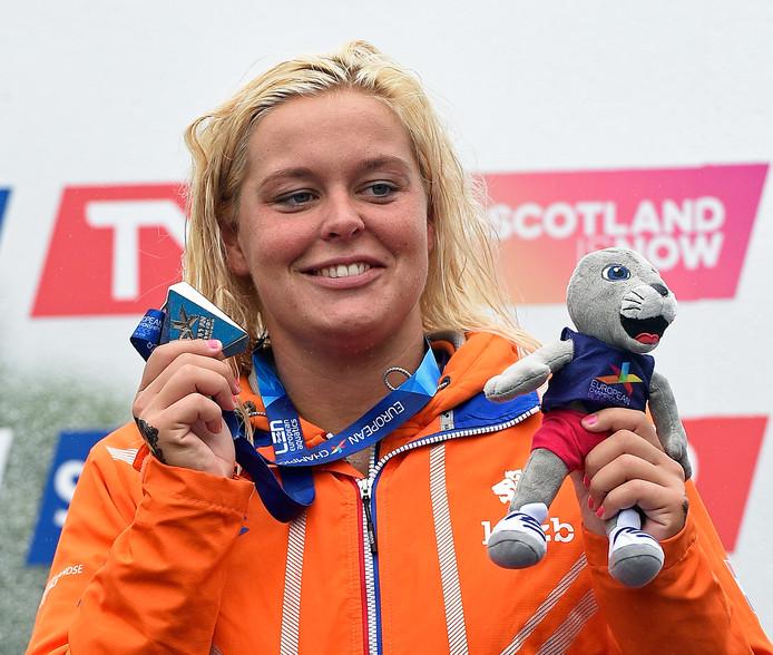 De Nederlandse olympische zwemkampioene op de 10 km open water Sharon van Rouwendaal.
