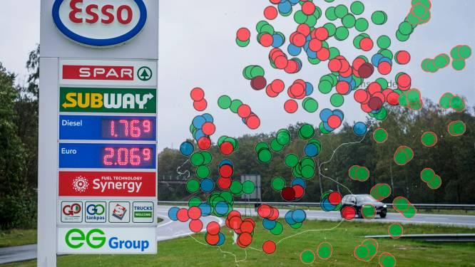 Benzineprijs ook in Twente boven de 2 euro, maar of tanken in Duitsland goedkoper is?