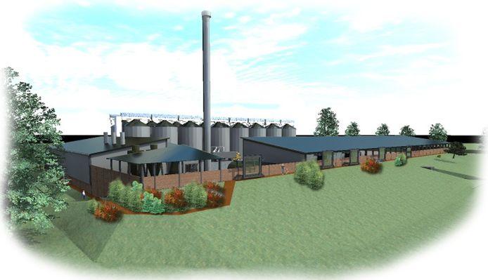 In 2017 was dit het plan voor de pelletfabriek in Almelo, maar volgens inwoners van Bornerbroek zouden de gebouwen daarna steeds hoger worden.