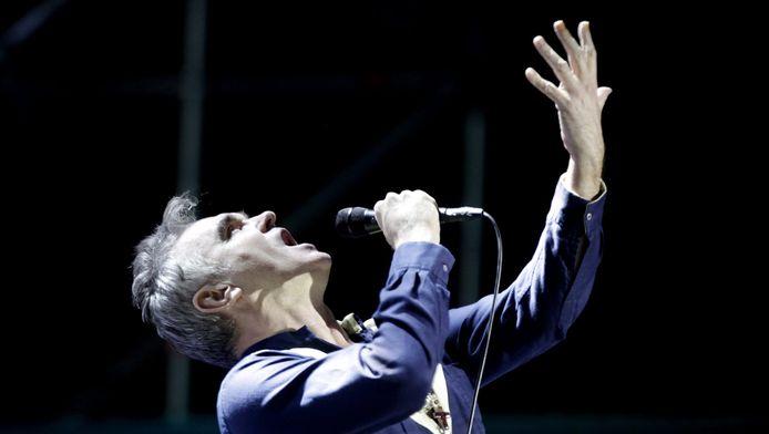 Morrissey tijdens een concert in 2015.