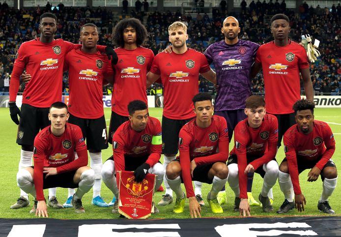 De basiself bij Manchester United gisteren in Astana.
