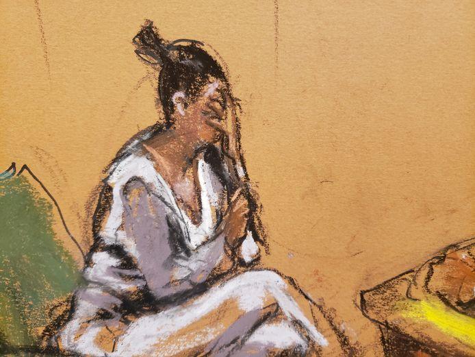 Jane Doe tijdens de rechtszaak tegen R. Kelly