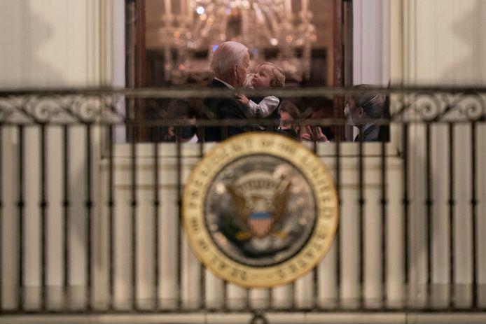 De president met zijn jongste kleinkind, Beau Biden.