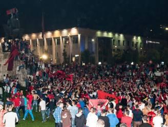 Albanezen de straat op om stopzetting interland te vieren