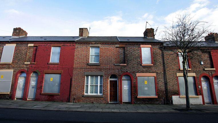 Ringo Starr's ouderlijk huis in Madryn Street in Liverpool. Beeld afp