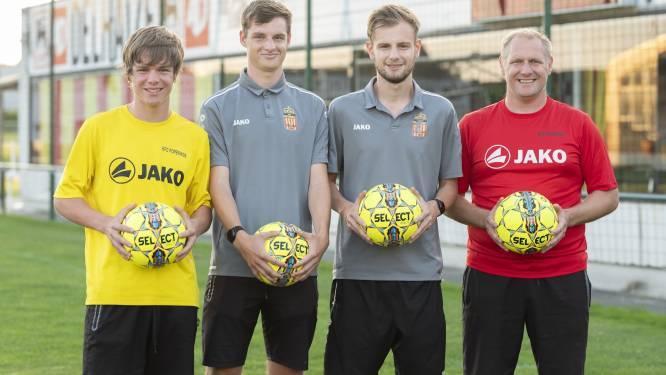 Bij gezin De Ruyck zit voetbal duidelijk in de familie: vader Nico en zijn drie zonen zijn trainer bij KFC Poperinge